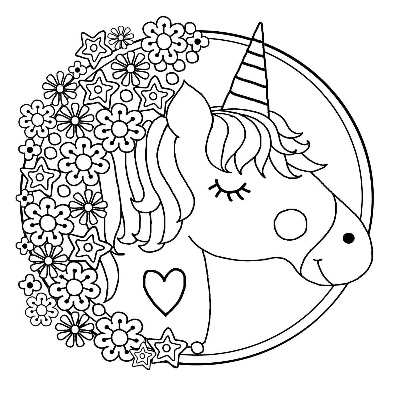 Desenhos de Unicórnio para colorir
