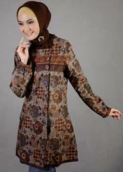 Baju batik muslim untuk wanita remaja