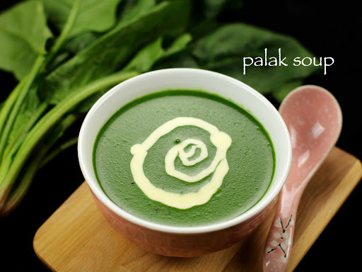 Palak Soup bagian dari Creamy Spinach Cita Rasa Indonesia
