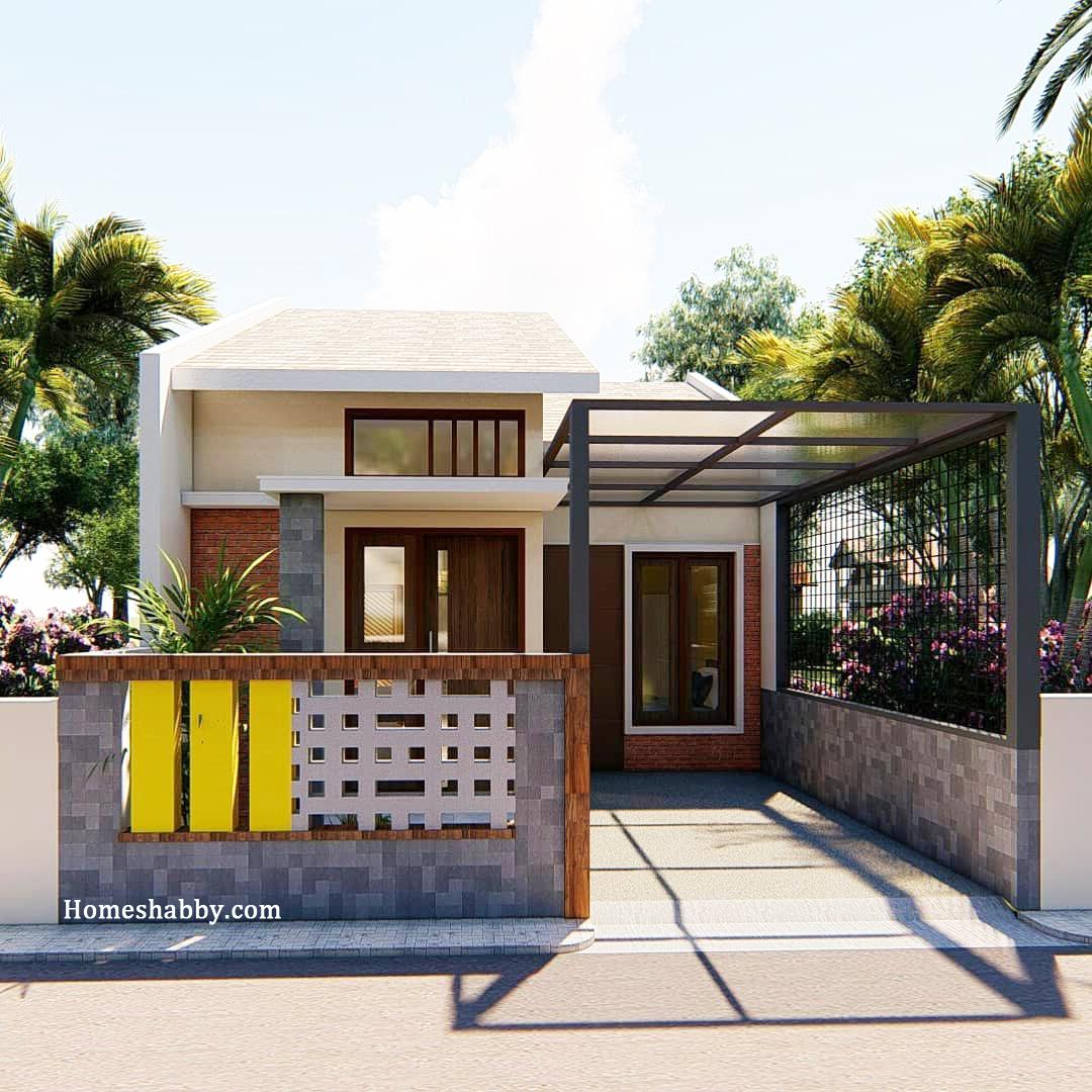 Desain Dan Denah Rumah Minimalis Konsep Sederhana Dengan Ukuran 8 X 14 M Terdapat Mushola Dalam Rumah Homeshabby Com Design Home Plans Home Decorating And Interior Design