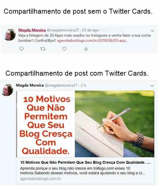 Twittes cards, como fazer no blog
