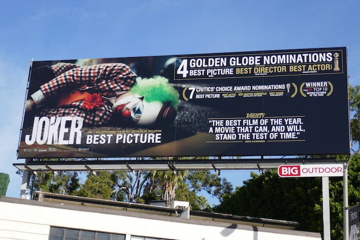 Joker 4 Golden Globe noms billboard