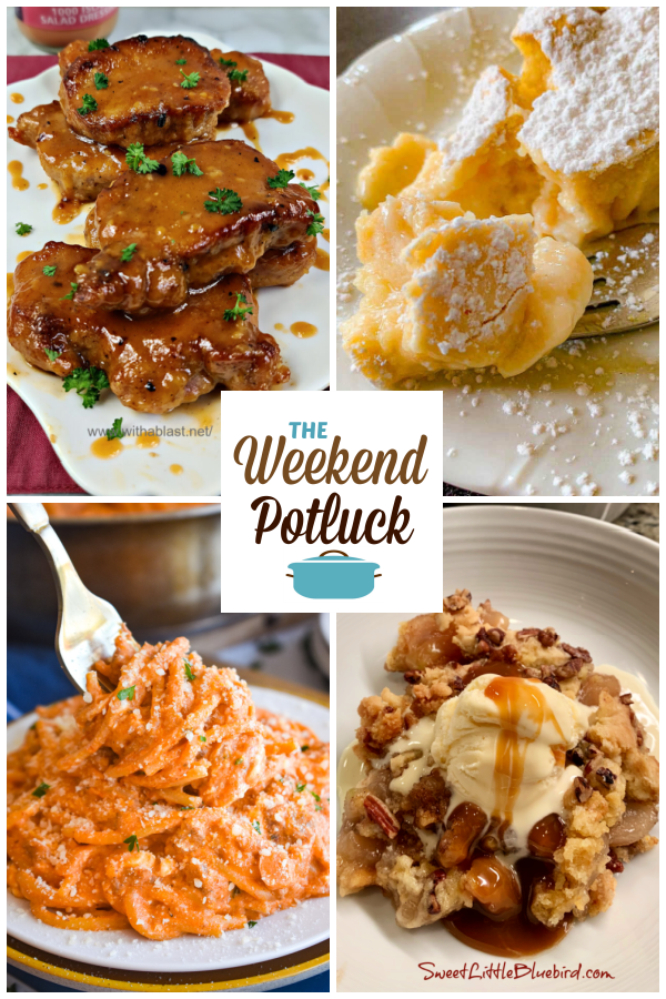 A virtual recipe swap with 1000 Island Tangy Pork Chops, Magic Cake with Apples, One Pot Million Dollar Spaghetti, Easy Apple Dump Cake and dozens more!