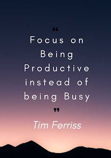quote - focus on being productive instead of being busy
