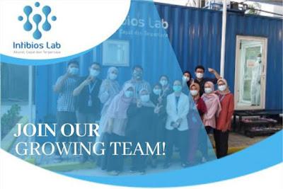 Intibios Lab adalah jaringan laboratorium yang telah beroperasi di sejumlah kota di seluruh Indonesia yang saat ini membuka lowongan untuk posisi :