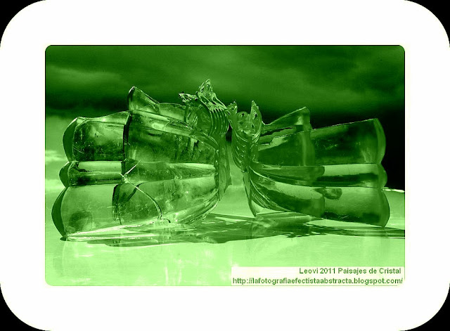 Abstract Photo 3401 Crystal Landscape 196  Fallen Angels - Angeles Caídos