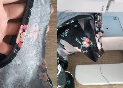 Crop top DIY ze spódnicy obszywanie brzegów - Adzik tworzy