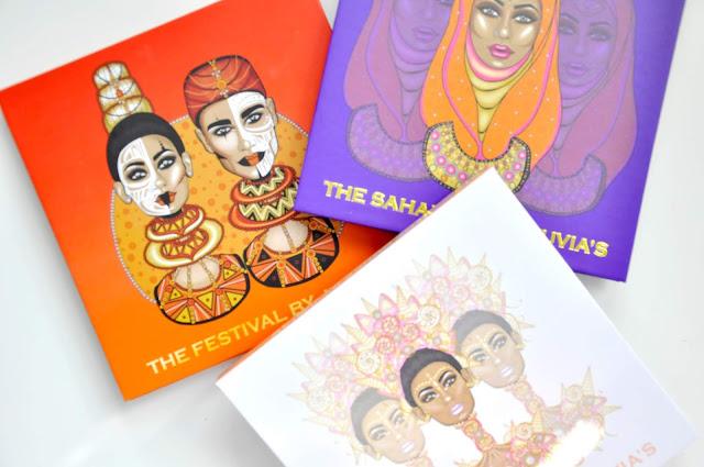 paletki cieni saharan ii, festival i douce juvia's place