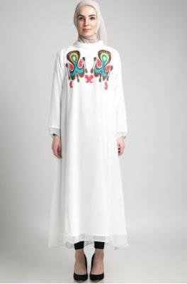 Gambar baju muslim motif etnik
