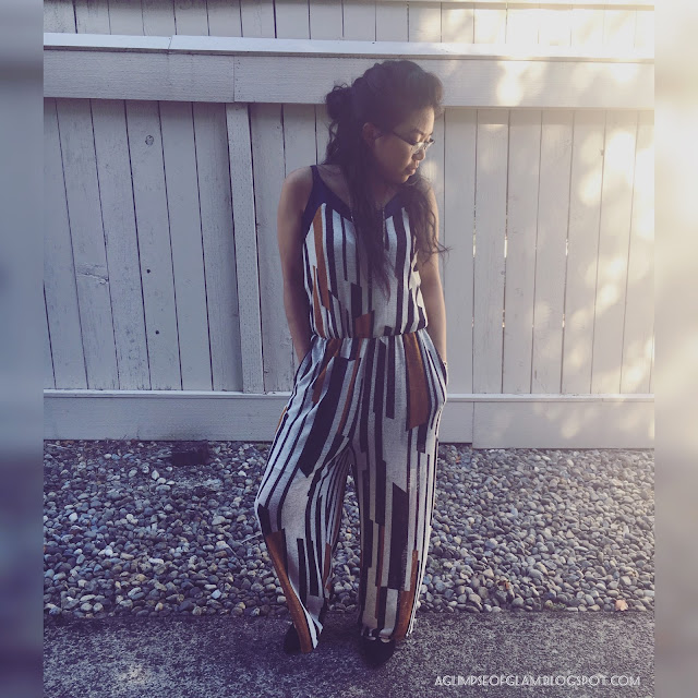 OOTD Printed Jumpsuit Blogger Recognition Award - Andrea Tiffany A Glimpse of Glam