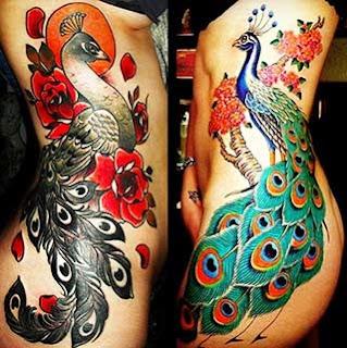 tatuagem para mulher costela e coxa