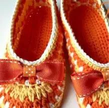 Pantuflas Niñas a Crochet