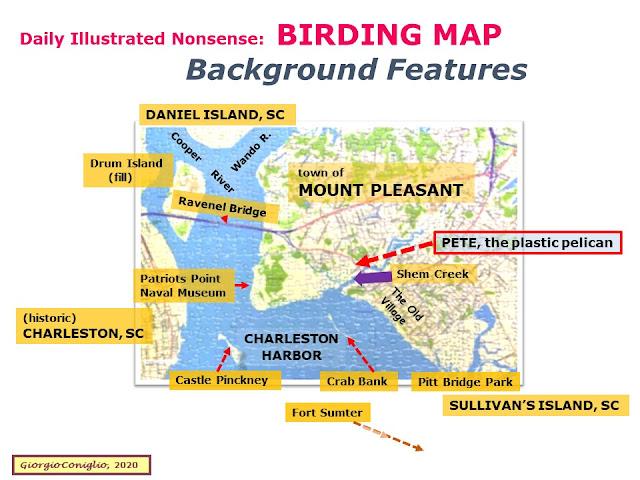 map; Mt. Pleasant; South Carolina