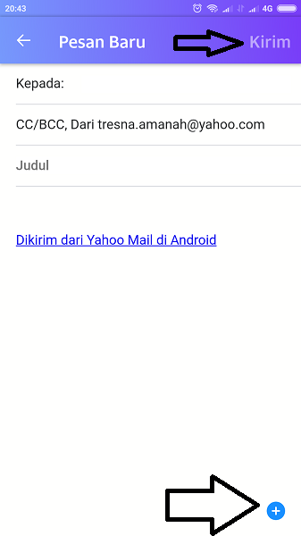 cara mengirim email lamaran kerja lewat hp