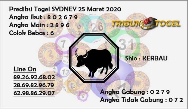 Prediksi Sidney Terjitu Rabu 25 Maret 2020 - Prediksi Tribun Togel