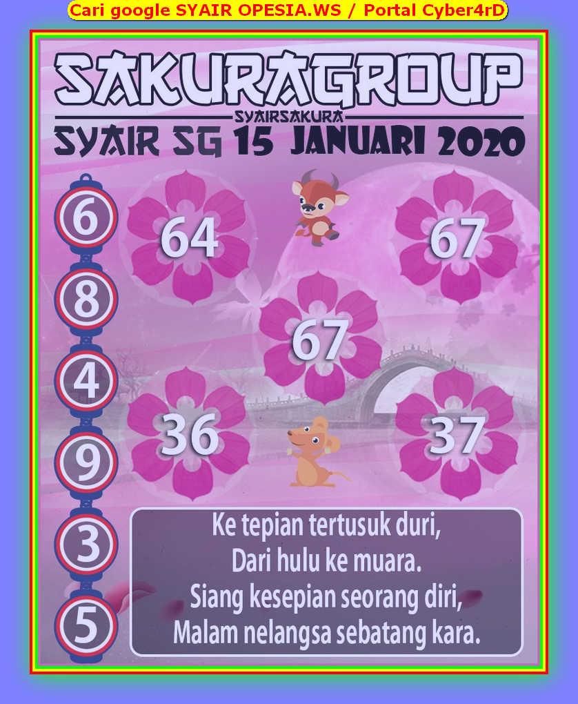 Kode syair Singapore Rabu 15 Januari 2020 141