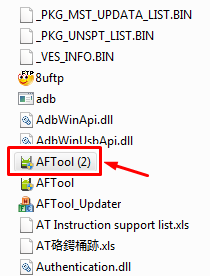 Run AFTool