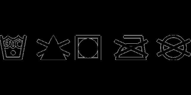 O significado dos símbolos das etiquetas de roupas