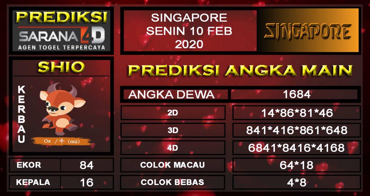 Prediksi Angka Main Singapura Senin 10 Februari 2020