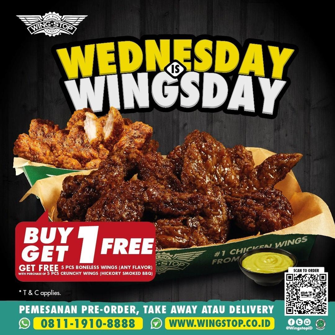 Wingstop Wednesday is Wingsday setiap RABU September 2021