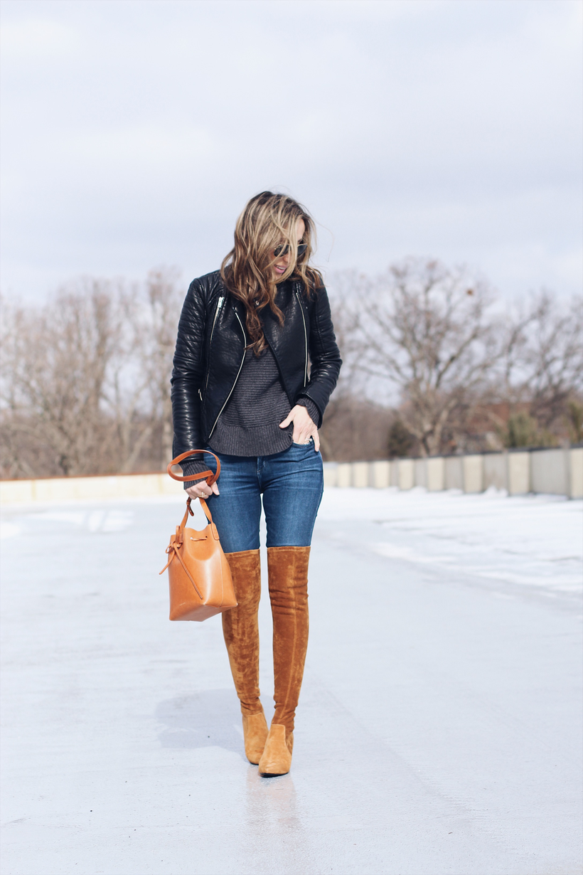 Tan over the knee boots | Lilly Style