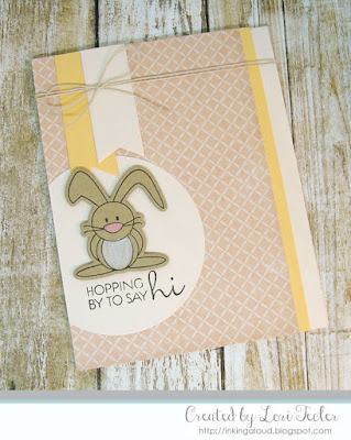 Hopping by to Say Hi card-designed by Lori Tecler/Inking Aloud-stamps and dies from Verve Stamps