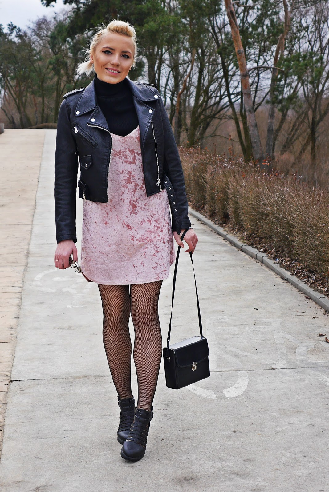 velvet_dress_biker_Jacket_look_ootd_karyn_130317
