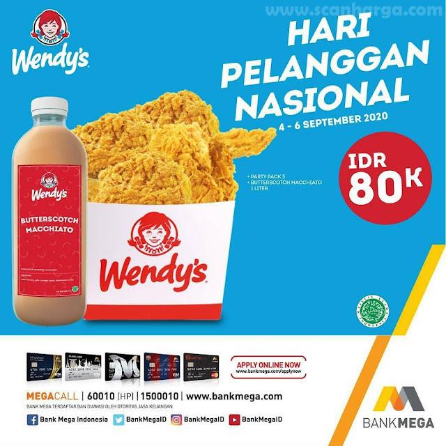 Wendys Promo Hari Pelanggan Nasional 4 - 6 September 2020