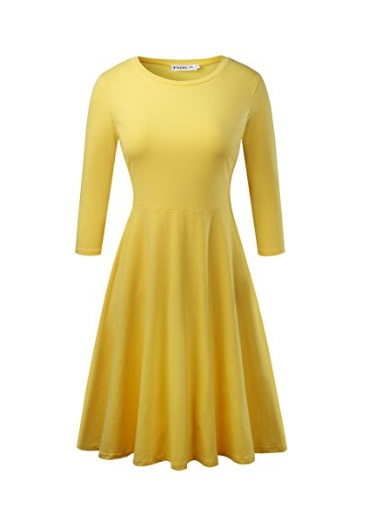 yellow long sleeve dress - Spring Dresses I want right now