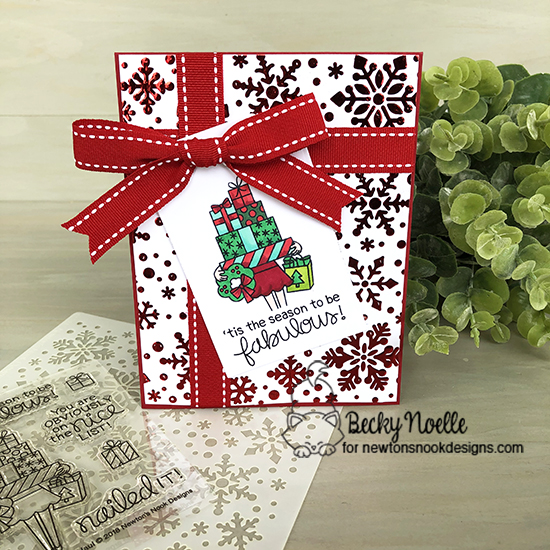 'Tis the season by Becky features Snowfall, Fancy Edges Tag, and Christmas Haul by Newton's Nook Designs; #newtonsnook
