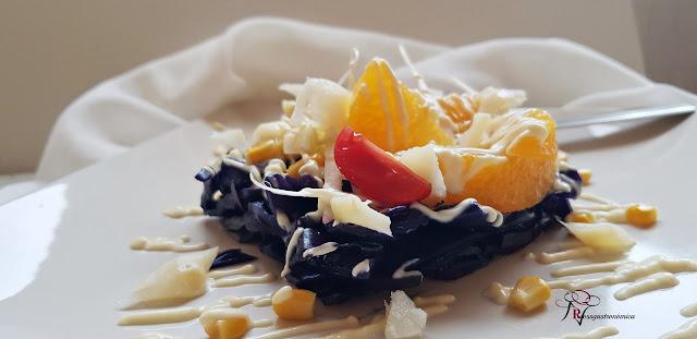 Ensalada de lombarda y fruta