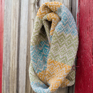 Loom Knit Fair Isle Scarf Pattern
