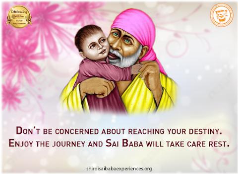 Journey - Sai Baba Hugging Kid Painting Image