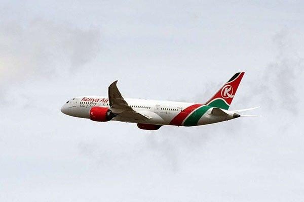 KQ flights to China stopped. PHOTO | NMG