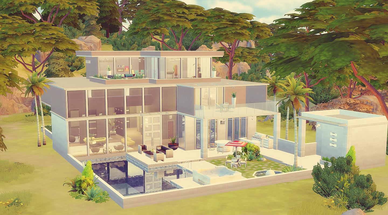 House 22 the sims 4 via sims for Sala de estar the sims 4