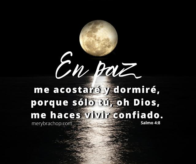 frases cristianas salmo para dormir en la noche en paz me acostare