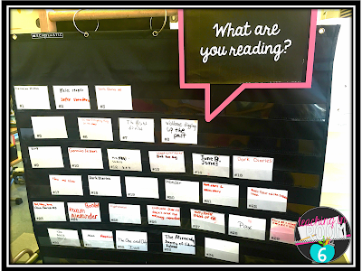 Great way to keep track of who is reading what in class.
