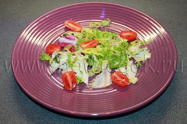 рецепт салата с грушей, сыром бри и фисташками с пошаговыми фото