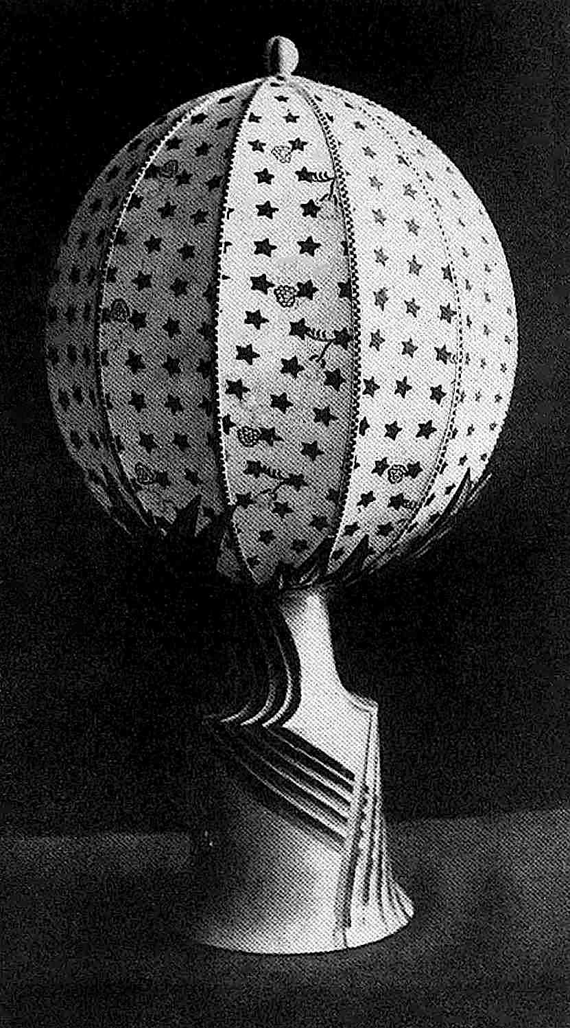 a 1920 table lamp by designer Dagobert Peche, sphere with stars
