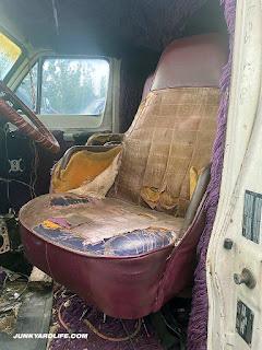 Swivel purple front seats.