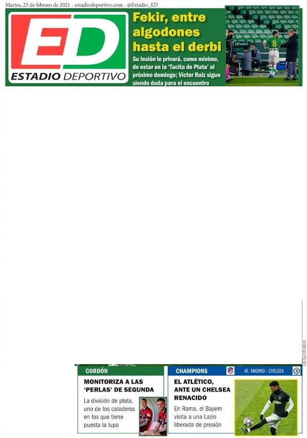 """Betis, Estadio Deportivo: """"Cordón monitoriza a las perlas de Segunda"""""""
