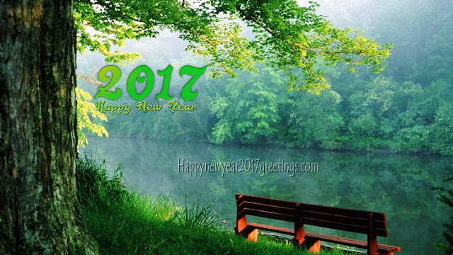 Happy New year 2017 full HD Nature spring Background Free Download for desktop
