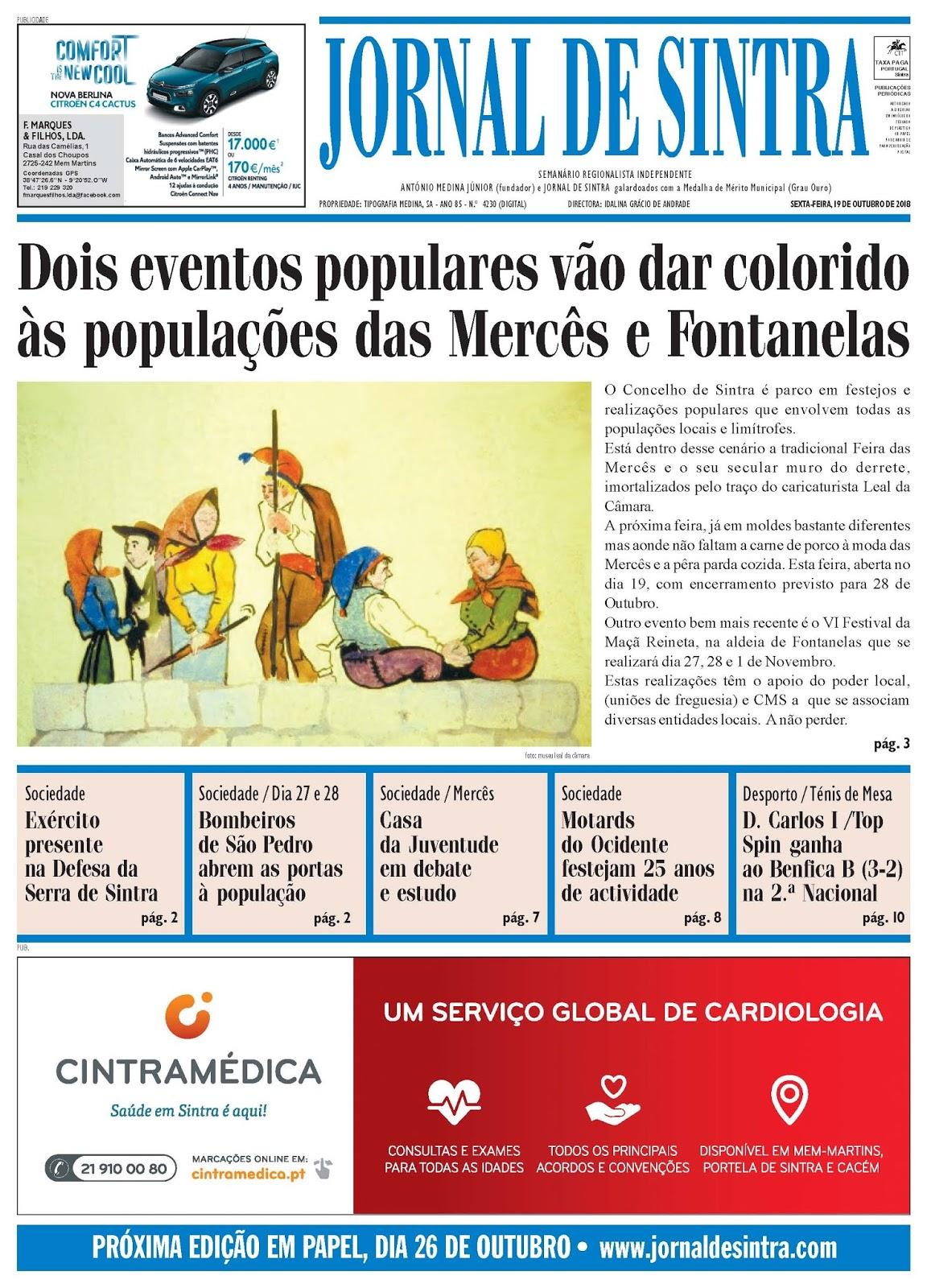 Capa da edição de 19-10-2018