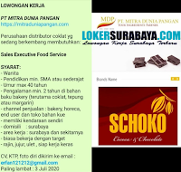 Info Loker Surabaya di PT. Mitra Dunia Pangan Juni 2020