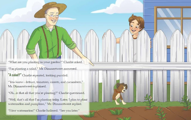 Learn about the characteristics of realistic fiction and making connections with the book Charlie Tractor and the Garden by Carrie and Katie Weyler.