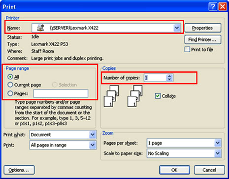 Image for Printing With Word 2007
