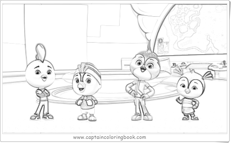 Top Wing: Virtual Training Missions Coloring Page