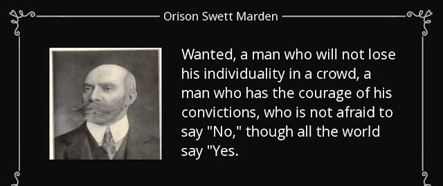 Famous Orinson Swett Marden quote