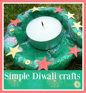 Simple Diwali crafts for children
