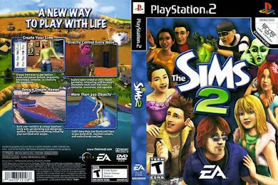 Jogo The Sims 2 PS2 DVD Capa